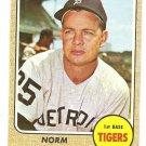 1968 Topps baseball card #256 Norm Cash Detroit Tigers EX+