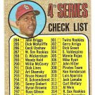 1968 Topps baseball card #278 4th series checklist - UNMARKED Orlando Cepeda VG/EX miscut