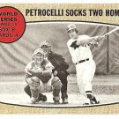 1968 Topps baseball card #156 World Series #6 Petrocelli Socks 2 Homers EX