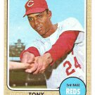 1968 Topps baseball card #130 Tony Perez Cincinnati Reds VG (small lt crease)