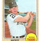1968 Topps baseball card #129 Mickey Stanley Detroit Tigers VG