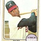 1968 Topps baseball card #55 Felipe Alou Atlanta Braves VG/EX