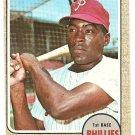 1968 Topps baseball card #190 Bill White Philadelphia Phillies VG/EX