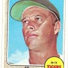 1968 Topps baseball card #58 Ed Eddie Mathews Detroit Tigers VG (lt surface crease) miscut