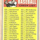 1970 Topps baseball card #588 7th Series checklist UNMARKED F/G light crease, small tear