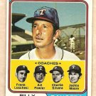 1974 Topps baseball card #379 Billy Martin Texas Rangers VG