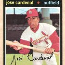 1971 Topps baseball card #435 Lose Cardenal St. Louis Cardinals EX