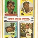 1974 Topps baseball card #3 Hank Aaron Special VG