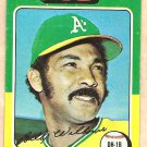 1975 Topps baseball card #545 Billy Williams Oakland A's Good cond. - creased