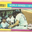 1975 Topps baseball card #462 (B) World Series game 2 Oakland A&#39;s Los Angeles Dodgers NM