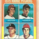 1975 Topps baseball card #614 rookies Jack Kucek Dyar Miller Vern Ruhle Paul Siebert EX
