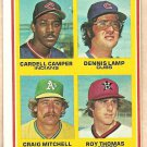 1978 Topps baseball card #711 Cardell Camper Dennis Lamp Craig Mitchell Roy Thomas EX/NM OC