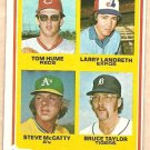 1978 Topps baseball card #701 Tom Hume Larry Landreth Steve McCatty Bruce Taylor VG