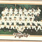 1978 Topps baseball card #404 Detroit Tigers team card checklist - UNMARKED VG (bent crnr)