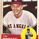 1963 Topps baseball card #421 Tom Morgan Los Angeles Angels EX/NM
