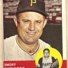 1963 Topps baseball card #425 Smokey Burgess Pittsburgh Pirates EX/NM