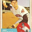 1963 Topps baseball card #36 Jerry Kindall Cleveland Indians VG/EX