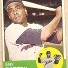 1963 Topps baseball card #410 Earl Battey Minnesota Twins NM/M