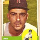 1963 Topps baseball card #28 Mike Fornieles Boston Red Sox VG/EX