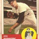 1963 Topps baseball card #19 Pete Burnside Baltimore Orioles VG