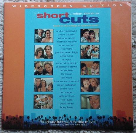 Short Cuts Laserdisc (laser disc) movie Robert Downey Jr. Tim Robbins Jack Lemmon 2 disc set