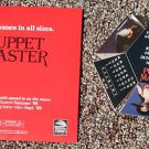 1989 Puppet Master movie promo pop-up calendar 'ball' and sleeve, NM condition