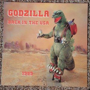 """1989 Godzilla Back in the USA calendar - rare! full color 12"""" x 12"""""""