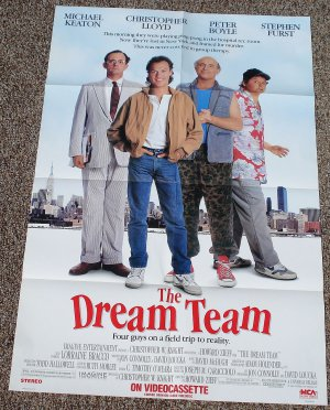 The Dream Team movie poster 27 x 40 folded, Michael Keaton, Christopher Lloyd
