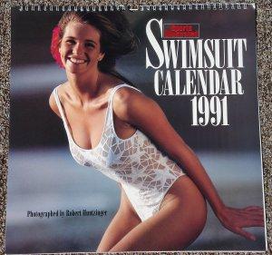 Sports Illustrated 1991 Swimsuit Pin-Up Calendar Elle MacPherson, Kathy Ireland, Rachel Hunter