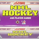 1991 Score factory Hockey card set, 440 cards, Factory sealed, never opened, MINT