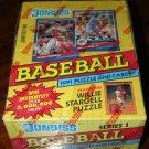 1991 Donruss Baseball card wax box, series 1 & 2 Factory sealed, 36 packs each , never opened, MINT