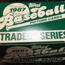 1987 Topps factory baseball card UPDATE Traded set, 132 cards, never opened, MINT