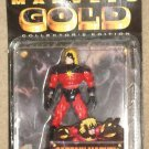 Marvel's Gold Captain Marvel action figure 1997, MIP Toy Biz Mar-Vell