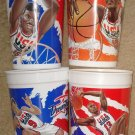 4 McDonalds NBA Dream Team II Cups 1994 USA Basketball Shaquille O'Neal