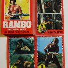 1985 Topps Rambo First Blood Part 2 movie card set 66 cards, Sylvester Stallone