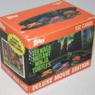 1990 Topps Teenage Mutant Ninja Turtles (TMNT) Deluxe Edition movie card set, 132 cards, NM/MT