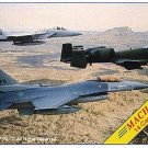 1993 Top Pilot Mach 2 military aircraft card set, 14 cards, NM/M Air Force, Marines, jets, fighters