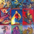 1994 Fleer Ultra X-Men comic card set, 150 cards, NM/M Marvel comics Wolverine Cyclops