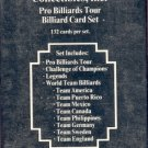 1993 World Wide Collectibles Pro Billiards Tour factory sealed 132 card set, Mint, pocket pool