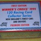 1991 Winner's Choice 120 Racing card factory set, NM/M race cars, NASCAR stock cars