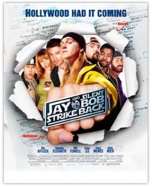 "Jay & Silent Bob Strike Back movie poster, 27"" x 40"" folded, Kevin Smith, Jason Mewes"