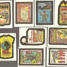 9 different Topps Wacky Packages non-sports trading stickers cards NM/M - lot #2