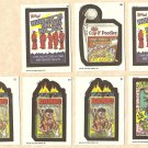 7 Topps Wacky Packages non-sports trading stickers cards NM/M - lot #3