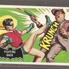 1966 Topps Batman (black bat) non-sports trading card #30 NM/M Fighting Back