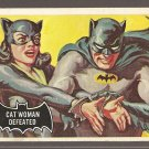 1966 Topps Batman (black bat) non-sports trading card #35 EX Cat Woman Defeated