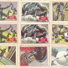 1966 Topps Batman red bat cards #2, 5, 9, 11, 13, 17, 21, 26, 29, 30, 31, 38, 41, 43, 44