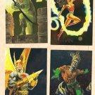 1994 DC Master Series Foil 4 chase card set NM/MINT F1, F2, F3, F4