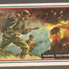 1953 Topps Fighting Marines card #57 Marine Engineers NM