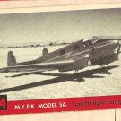 1956 Topps Jets card #54 M.K.E.K (MKEK) Model 5A Turkish light transport