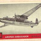 1956 Topps Jets card #58 Airspeed Ambassador, British Airliner